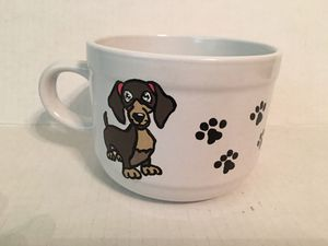 Large Hand Painted Dachshund Coffee Mug for Sale for sale  Shreveport, LA