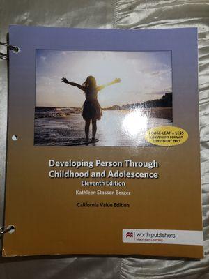 Developing Person Through Childhood & Adolescences Eleventh Edition. Kathleen Stassen Berger for Sale in Anaheim, CA