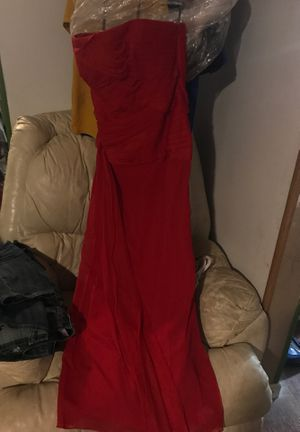 David's bridal size 10 red strapless gown for Sale in Nashville, TN