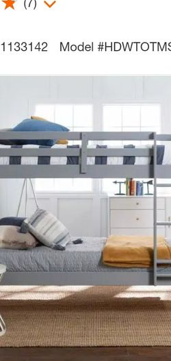 Solid Wood Twin over Twin Mission Design Bunk Bed - Grey by  Walker Edison Furniture Company for Sale in Atlanta,  GA