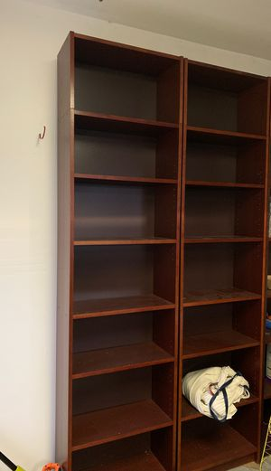 Tall book/decorative shelves, bookshelf for Sale in Seattle, WA