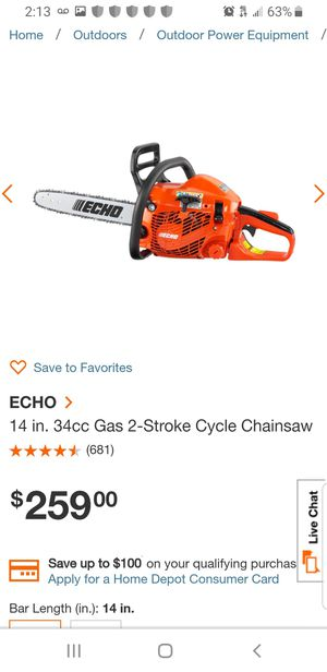 Chain saw- Echo CS 352 for Sale in Silver Spring, MD