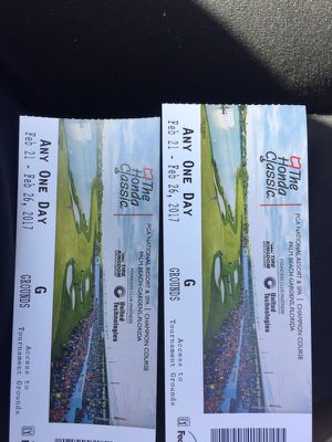2 Tickets to Honda Classic Golf Event - cheap for Sale in West Palm Beach, FL