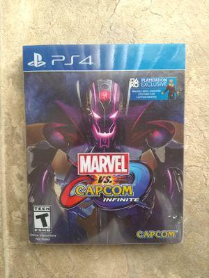 Marvel Vs Capcom Infinite Steelbook Collector's Edition Ps4 for Sale in Fresno, CA
