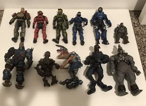 Lot Of 11- Halo 3 Action Figure Figures Toy McFarlane 5 Solders 6 Monsters for Sale in Kenmore, WA
