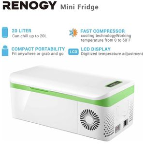 Renogy Portable Fridge 20L Compressor Refrigerator LCD Display DC Power 12/24v for camping offroading overlanding for Sale in Anaheim, CA