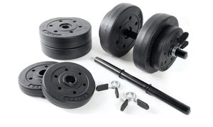 CAP 40 Lb Total Adjustable Vinyl Dumbbell Weight Set for Sale in Brentwood, CA