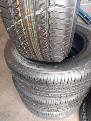 Set of 4 tires =245/65/17-Bridgestone 95% of life for Sale in Fullerton, CA