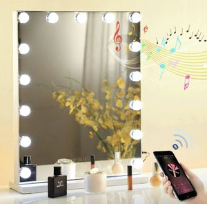 Fenair Makeup Vanity Mirror with Bluetooth & USB Charging Port - 3 Color Lighting Model,15 Bulbs Hollywood Style Makeup Mirror with Lights for Dressi for Sale in Los Angeles, CA