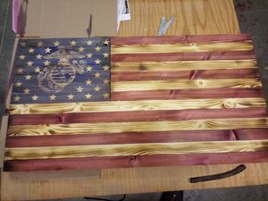 Hand made rustic burnt flag for Sale in Auburn, IN