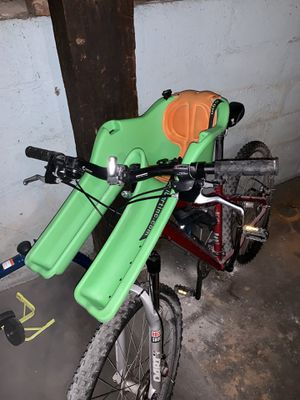 Ibert child safe-t-seat attaches front of adult bike for Sale in Knoxville, TN