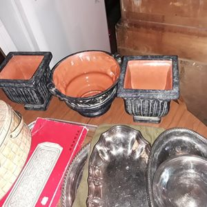 3 Piece Ceramic Plant Holders for Sale in Tacoma, WA