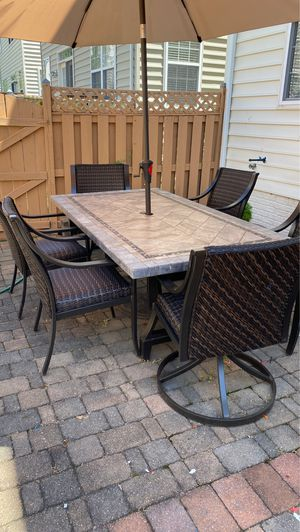 8 piece patio Stone/tile patio Set for Sale in Alexandria, VA