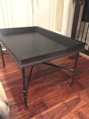 Wooden table with iron welded pipe legs for Sale in Atlanta, GA