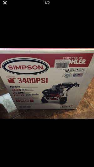 Simpson 3400 PSI Pressure Washer for Sale in Dallas, TX