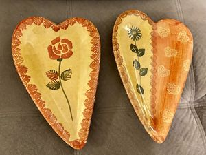 2 Heart Plates for Sale in Mount Holly, NC