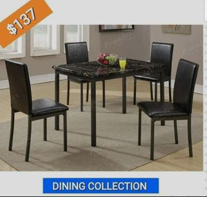 BRAND NEW 5PC DINING TABLE SET FURNITURE TABLE AND 4 CHAIRS for Sale in Riverside, CA