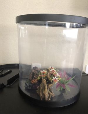 Fish tank 3.5 gallon with decorative items. for Sale in Aurora, CO