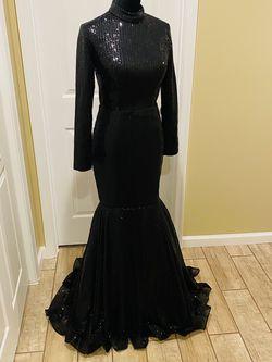 Mermaid Sequin Rhinestones Long Train Long Sleeve Turtleneck Prom Wedding Special Event Dress Elegant for Sale in Gaithersburg,  MD