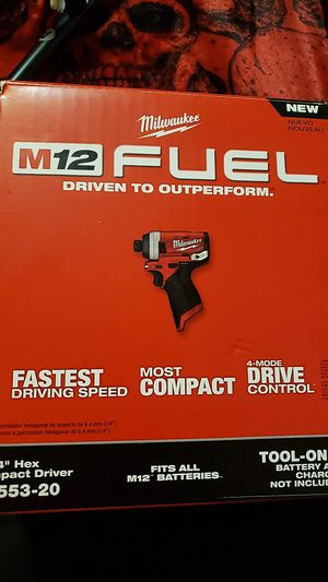 milwakee M12 1/4 hex driver for Sale in Fresno, CA