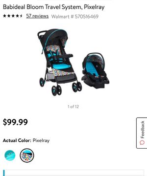 New trolley and car seat / Nuevo carreola y asiento para coche for Sale in Addison, TX