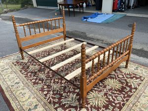 Antique Jenny Lind Full Size Spindle Bed for Sale in Holly Springs, NC