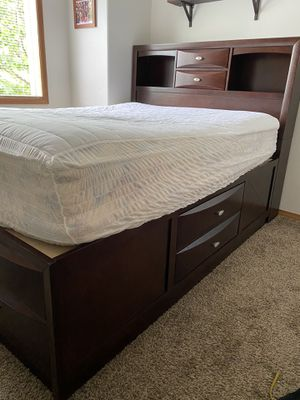 Queen size Storage Bed frame and headboard *Frame Only* for Sale in Portland, OR