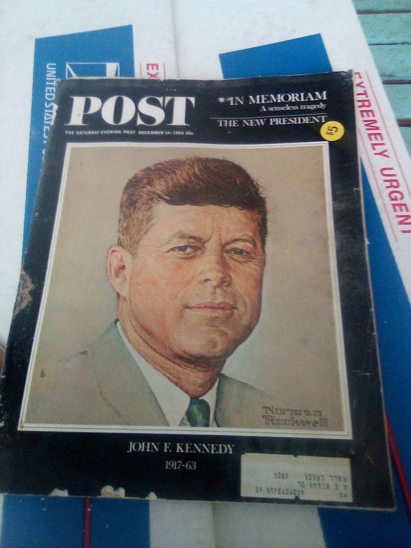 1960s Vintage Post Magazine JFK ,Hiroshima ,John Wayne