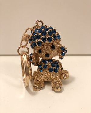 Crystal gold dog keychain for Sale in Aspen Hill, MD