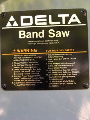 """Delta band saw 14"""" working good for Sale in Miami, FL"""