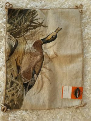 Sportsmans Needlepoint Pillow Cover for Sale in Charlotte, NC