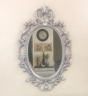 "Silver oval mirror 21"" x 33"" for Sale in Purcellville, VA"