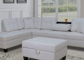SPECIAL] Pablo White Sectional | U5300 by Global for Sale in Arlington,  VA