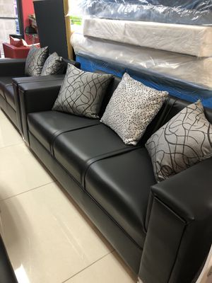 Black or grey color sofa and loveseat $399 for Sale in Fort Lauderdale, FL