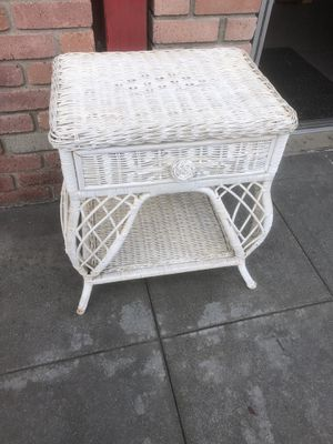 Rattan wicker side table for Sale in San Diego, CA