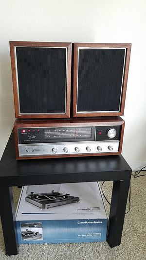 Vintage stereo system with new record player for Sale in Denver, CO