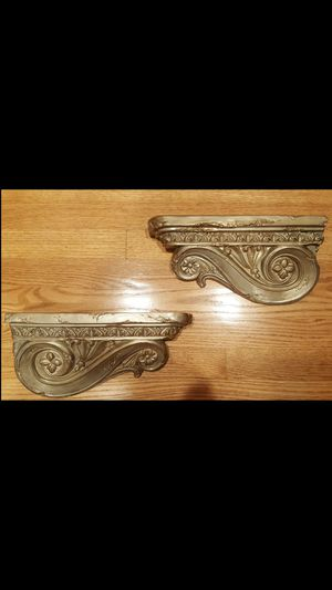 Pair of decorative wall shelves for Sale in Lemont, IL