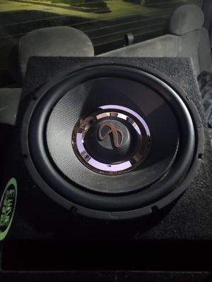 12 inch infinity subwoofer with box for Sale in Los Angeles, CA