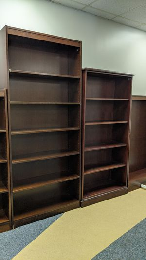 Pre-Assembled Wooden Bookshelves for Sale - $75 for medium height / $100 for tall for Sale in Houston, TX