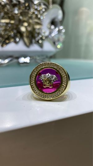 VERSACE MEN GOLD 10K RING - ANILLO DE HOMBRE VERSACE ORO 10K for Sale in Miami, FL