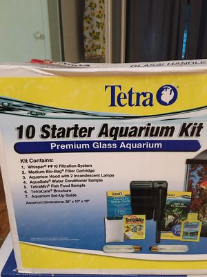 10 gallon fish tank aquarium setup kit for Sale in Pittsburgh, PA