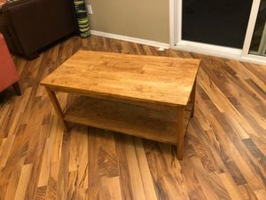 Coffee table. Solid wood. for Sale in Temecula, CA