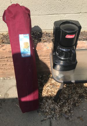 Camping chair and coffee maker for Sale in Denver, CO