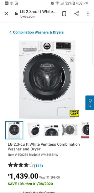 New LG ventless combination washer dryer for Sale in Steilacoom, WA