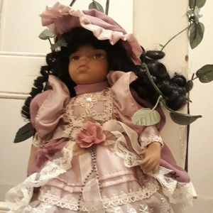 Vintage African American Porcelain Doll On A Swing for Sale in Philadelphia, PA