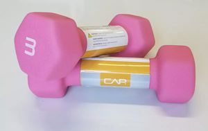 CAP Neoprene Dumbbells 3lbs Pink Pair Hex Weights Workout 3 Pounds DumbBells for Sale in Fort Belvoir, VA