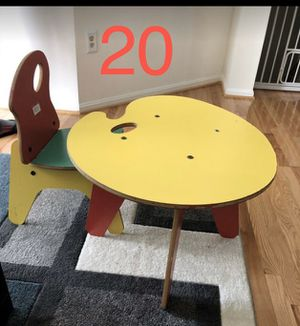 Kids table with chair for Sale in Fairfax, VA