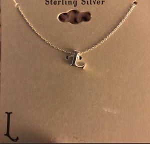 Sterling silver-L necklace for Sale in La Habra, CA