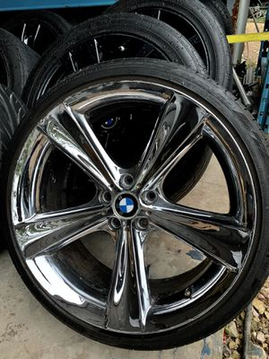 """Style 128 bmw 21"""" wheels and tires for Sale in Leander, TX"""