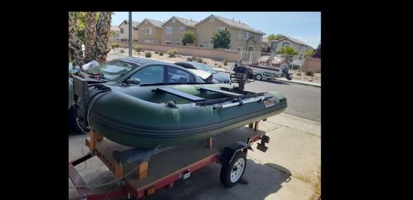 Aleko inflatable boat with 6.0hp